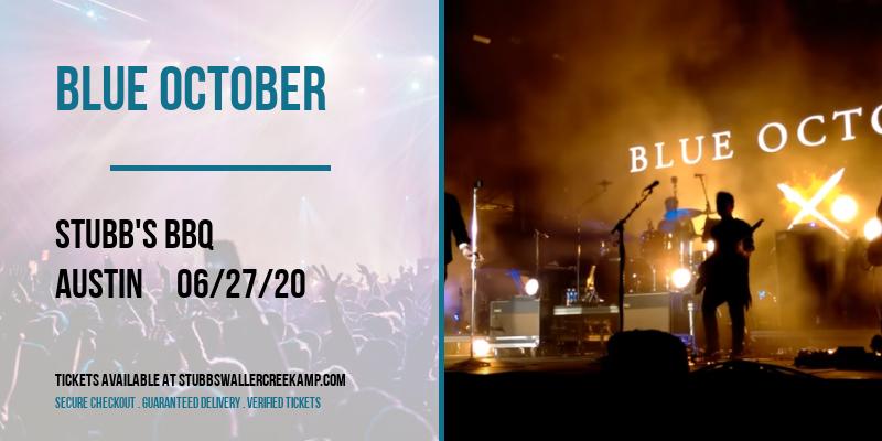 Blue October at Stubbs BBQ Waller Creek Amphitheater
