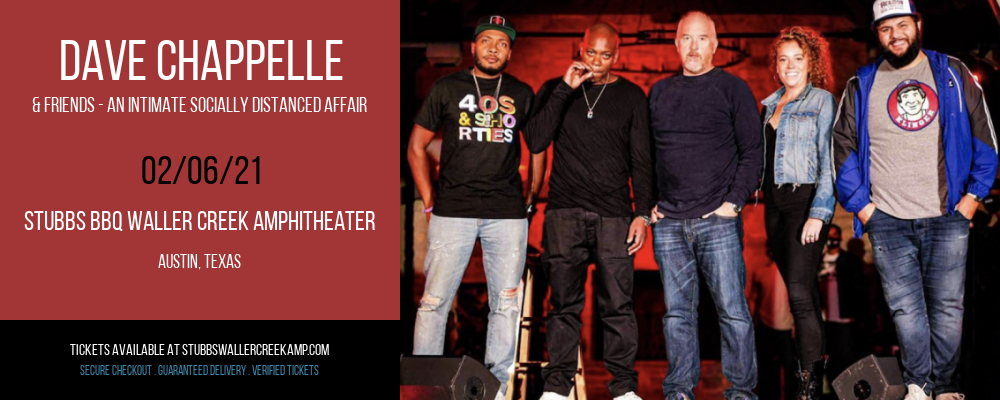 Dave Chappelle & Friends - An Intimate Socially Distanced Affair at Stubbs BBQ Waller Creek Amphitheater