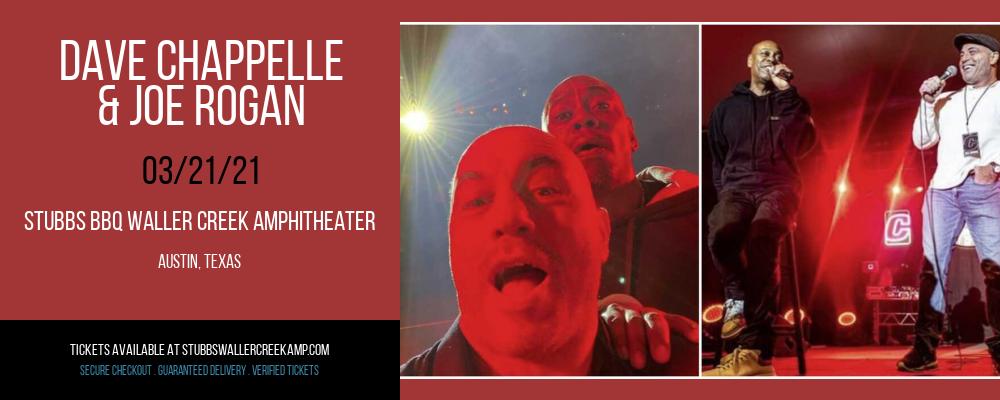 Dave Chappelle & Joe Rogan at Stubbs BBQ Waller Creek Amphitheater